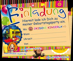 einladungen - okidoki kinderland bühl, Einladung